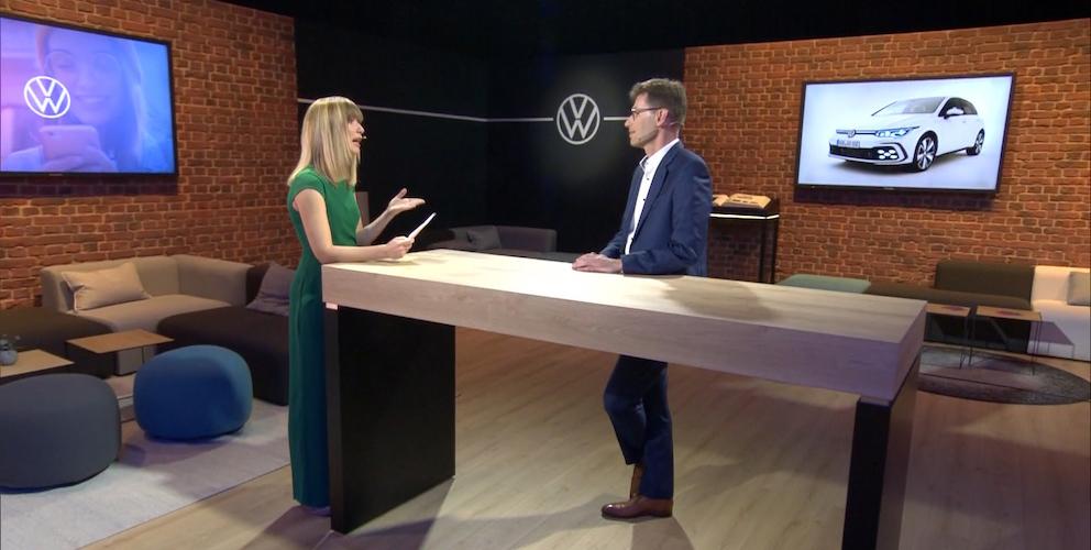 Volkswagen press conference transformed into a studio talk format